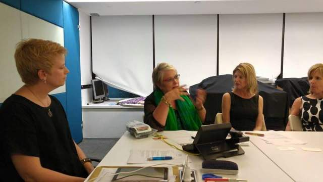 Carol Hanlon, BPW Perth, and Toni Wade, HKTDC-Sydney, spoke at the July founding meeting.